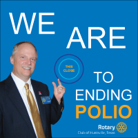 Darren Williams, President of the Rotary Club of Huntsville, Texas
